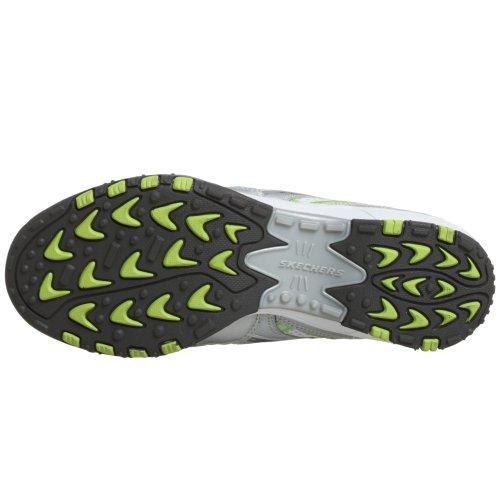 Scarpe sportive sneakers donna Skechers con lacci Grigio