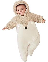 Gamins Bébé Romper Animal - Combinaison Garçons Filles Hoodies Une Pièce Enfants Outfit 0-18 Mois Manchot Panda Lapin Renard Rose Black Mxssi