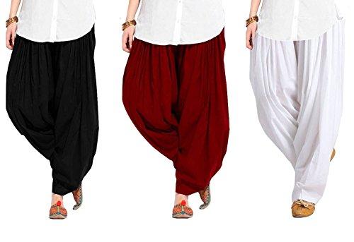 Spangel Fashion Women's Soft Cotton Full Stitched Ready made Patiala Salwar Combo...