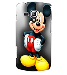 ColourCraft Lovely Cartoon Character Design Back Case Cover for SAMSUNG GALAXY S DUOS 2 S7582