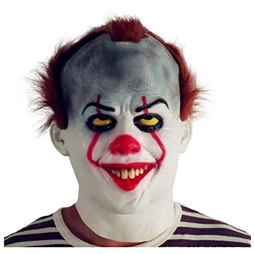 Clown Return Maske Kosten Kopfbedeckung 2017 Film Peripheral Pennywise Halloween Terror ()