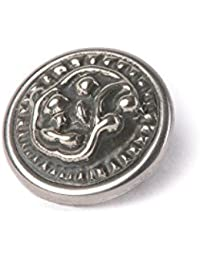 Noosa Petite Chunk victorian button paisley silver white metal 06.03