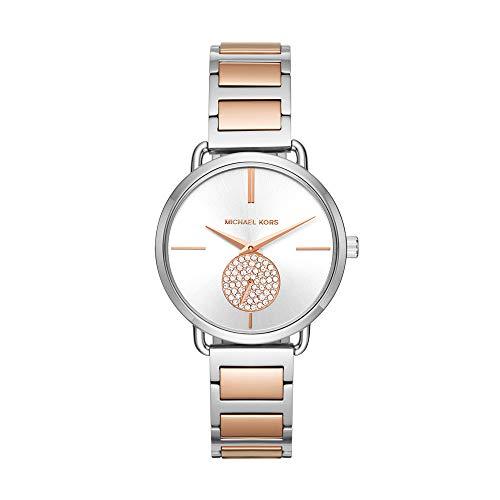 Michael Kors Women's Portia Silver/Rose Gold One Size (Michael Kors Rose Gold Herren Uhr)