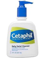 Cetaphil Lotion nettoyante pour le visage à usage quotidien - Elimine sébum, saletés et maquillage sans déshydrater la peau - Peau normale à grasse - 235 ml