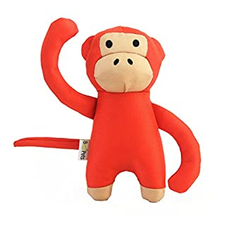 Beco Soft Toy - Michelle the Monkey made from Recycled Plastic Bottles - Toy for Dogs with Squeeker - M 14