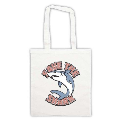 Salvare il squalo slogan stile borsa White