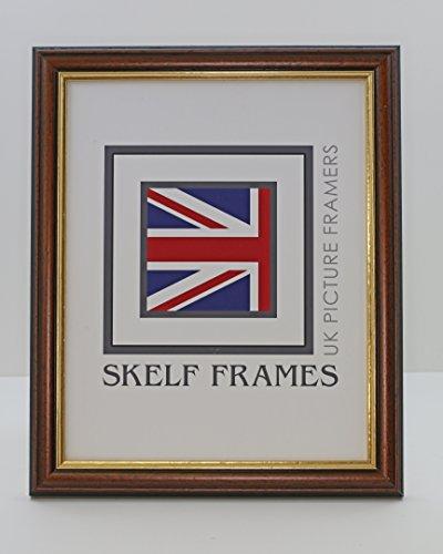 Skelf Frames 10x 8Holz-Bilderrahmen mit Holz mit Gold-Inlay