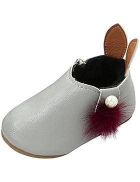 TPulling Mode Mädchen Stiefel Herbst Und Winter Mädchen Freizeit Hasenohren Perle Haar Ball Schuhe Plus Bargeld...