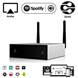 Amplificateur et Récepteur Audio WiFi et Bluetooth | Arylic A50 | Synchro Multi-Room | Airplay DLNA | 24bit 192 kHz Fréquence Échantillonnage | 80W x2 Canaux | Connexion LAN