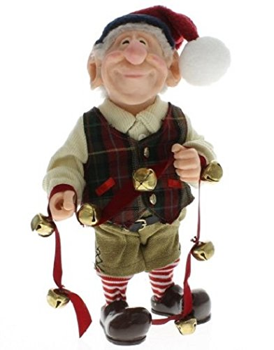 Whitehurst Company Zim's Clifford The Elf Holding Sleigh Bells Christmas Figurine (Sleigh Christmas Bells)