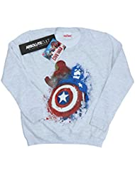Marvel mujer Captain America Civil War Painted vs Iron Man Camisa de entrenamiento