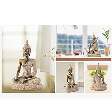 La Figurita Tonalidad De La Piedra Arenisca De Buda Joss Escultura Estatua Tallada A Mano 8