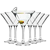Krosno Martini-Gläser Cocktailgläser | Set von 6 | 150 ML | Elite Kollektion | Perfekt für Zuhause, Restaurants und Partys | Spülmaschinenfest und Mikrowellengeeignet