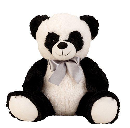Coccolone di panda Orso morbido orso di peluche con l'arco per l'amore in bianco / nero altezza 50 cm
