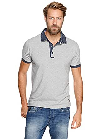 s.Oliver - 13.404.35.3796 Polo Homme - Gris (grey/Jeans Blau) FR: XXXX-Large (Taille fabricant : XXX-Large)