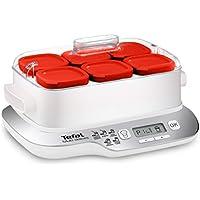 Moulinex Multidelices Express YG660120 - Yogurtera Eléctrica con 5 Programas y Función Exprés de 4 Horas, Incluye 6 Vasos Yogurtera con Tapa, Bandeja y Libro de Recetas, para Hacer Yogures Artesanos