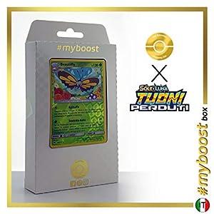 Beautifly 26/214 Holo Reverse - #myboost X Sole E Luna 8 Tuoni Perduti Box de 10 Cartas Pokémon Italiano