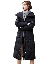 NPRADLA 2018 Damen Mantel Herbst Frauen Jacken Winter Oberbekleidung Lose  Knopf Lange Baumwolle gefütterte Taschenmäntel 96c45487ef