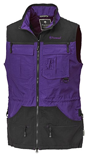 Pinewood Damen Dog Sports Weste, Purple/Schwarz, XS