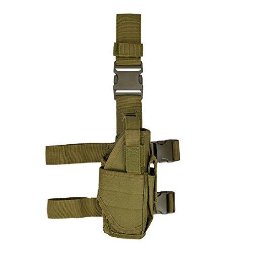 kwmobile Pistolenbeinholster rechts Tiefzieholster mit Bein- und Gürtelbefestigung in (Gürtel Gewehr Kostüm)