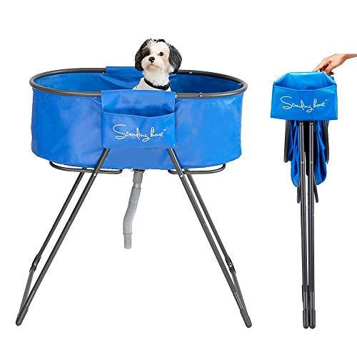 Standing Boat Faltbare Haustier-Badewanne für Hunde, zum Baden und Duschen in der Badewanne, in Einer Sekunde gefaltet und superleicht - perfekte Größe für kleine und mittelgroße Hunde und Katzen