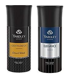 Yardley London Deodorant For Men citrus & wood And Elegance Combo Pack 2 (150 ml)