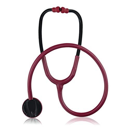 Alloeliey Estetoscopio de Cardiología, Estetoscopio médico Claro, Estetoscopio de una Cabeza Ligero...