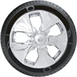 #4: Oshotto Premium OSHO-WC022C 13-inch Black Chrome Finish Universal Fitting-Push Type Car Wheel Cover (Set of 4)