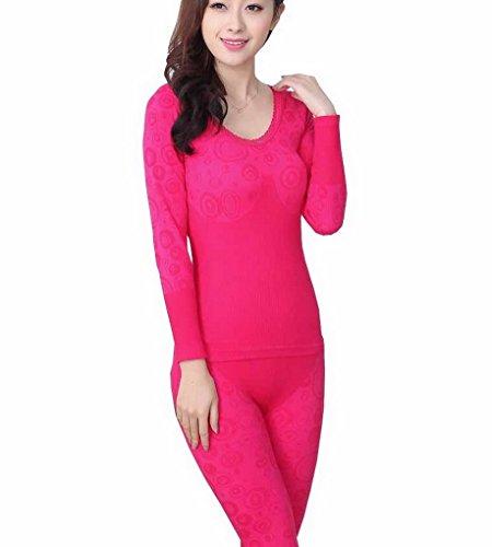 Evedaily - Coordinato abbigliamento termico - Donna Red Rose