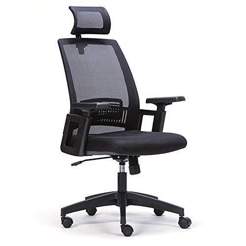 BEANFAN Bürostuhl, Computertisch Drehstuhl Ergonomischer Netzstuhl mit hoher Rückenlehne und Kopfstütze und Armlehne for die Hausaufgabe Gaming (Schwarz) Freizeitstuhl