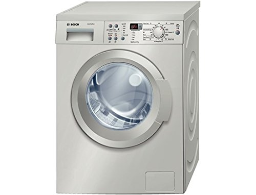 Bosch WAQ2836SGB freestanding Front-load 8kg 1400RPM A+++-30% Silver Washing Machine - Washing Machine (Freestanding, Front Load, Silver, Buttons, Rotating, Left, LED)