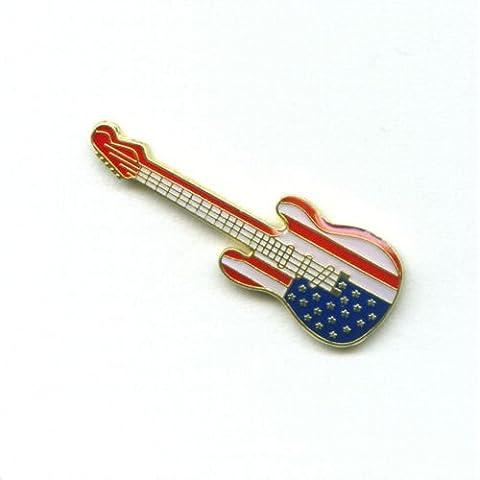 Patrioti USA Patriotic di chitarra Guitar American Flag Pin Spilla 0289