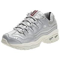 SKECHERS Energy, Women's Sneakers, Silver, 40 EU