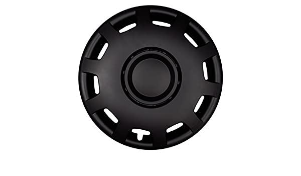 Farbe Schwarz-Matt Felgendurchmesser:16 Zoll Premium Radkappen Radzierblenden Radblenden Modell Granit 4er Set