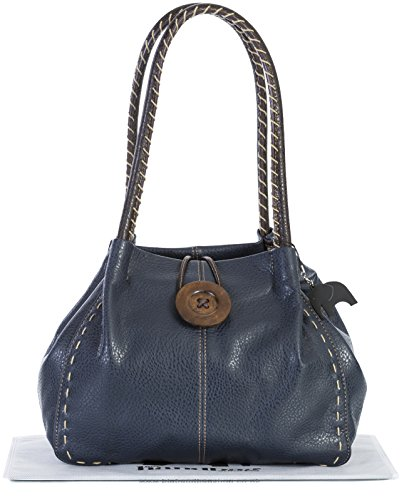 Big Handbag Shop, Borsa a spalla donna One Blu Navy (grado 4 PU)