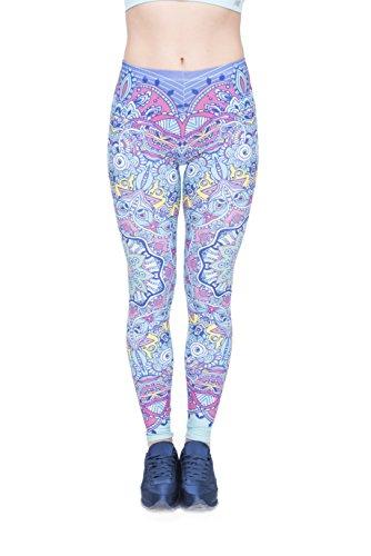 Bunte Damen Leggings OneSize XS-XL Mädchen Leggins mit verschiedenen Muster bedruckt   Tights Pants mit hohem Hüft-bund auch als...