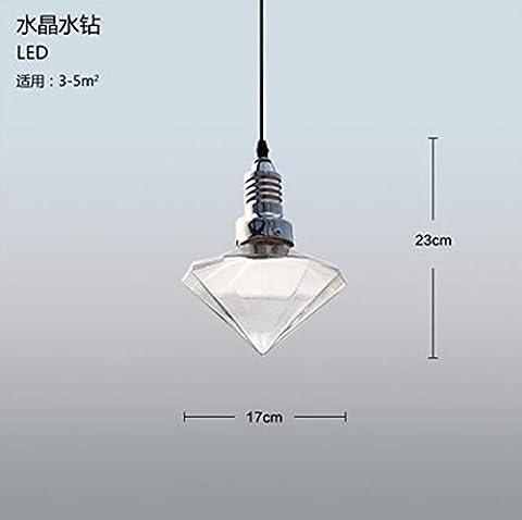 Pendelleuchten Kristallglas Decken-Pendelleuchte, Diamant