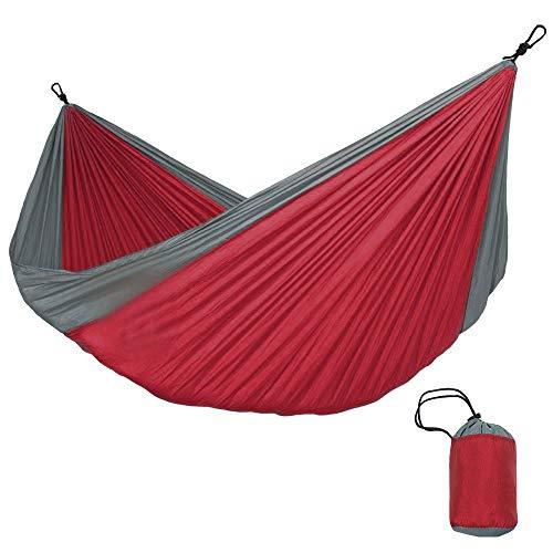YUCH Le Hamac De Tissu De Parachute Est Léger Et Respirable pour Le Pique-Nique, Rouge