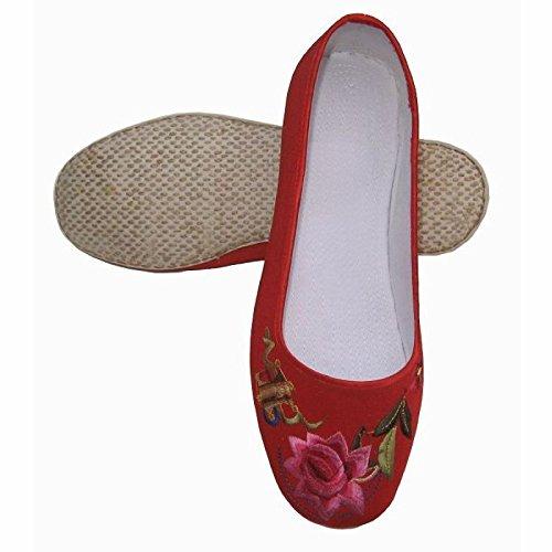 f - Schuhe Handarbeit Kostüm Schuhe Alt Einzelne Schuhe Casual Schuhen Rot - Rot Raptors (Raptor Kostüme)