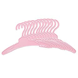 Doll Hangers Set Of 12 Pink Doll Clothes Plastic Hangers Accessories Fits American Girl Dolls, My Life Doll, Our Generation And Other 18 Inches Dolls