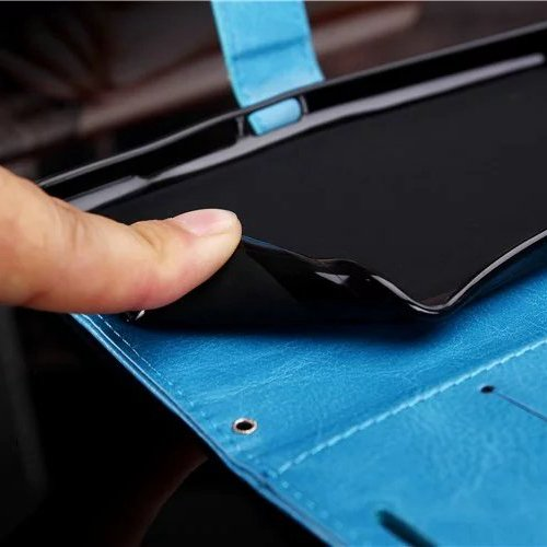 Wkae Case Cover LG G4 PRO Fall feste Folio magnetische Design Flip Brieftasche Stil Fall Farbmuster PU-Leder-Abdeckung Standup-Abdeckungsfall für LG G4 PRO ( Color : Brown , Size : LG G4 PRO ) Blue