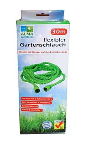 Vert 30 m tuyau flexible d'arrosage souple knickfreier wunderschlauch-tuyau d'arrosage avec adaptateur
