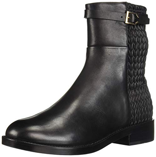 Cole Haan - Lexi Grand, Stretch-Stiefel mit Riemen Damen, Schwarz (Black Leather/Weav), 38.5 M EU