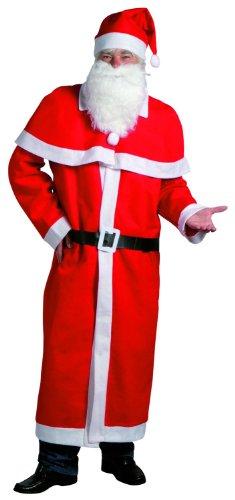 Idena 8580108 - Weihnachtsmann Kostüm, 5-teilig, - Aller Heiligen Tag Kostüm