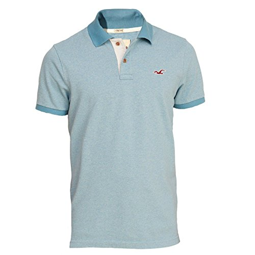 Hollister Herren Stretch Slim Fit Pique Polo Poloshirt Polohemd Shirt Hemd