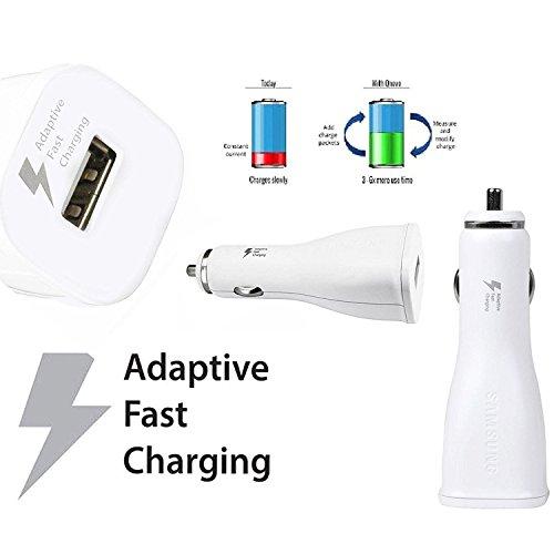Samsung Modulares Kfz Ladegerät - Ladeadapter plus USB Kabel - Weiß - 11 - 30 Volt - 2 Ampere - für kompatible Mobiltelefone mit Micro USB Ladeanschluss