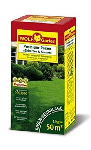 Premium-Rasen Schatten und Sonne