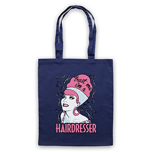 Trust Me I'm A Hair Dresser Funny Work Slogan Umhangetaschen Ultramarinblau