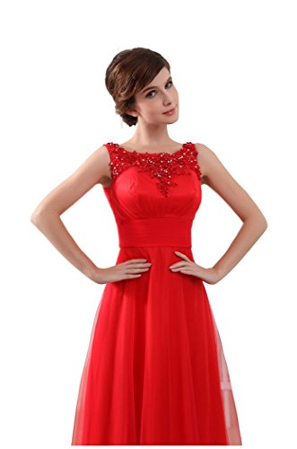 Beauty-Emily O Neck Sleeveless Long Lace Formal Evening Dresses Mother of the bride Dress dunkelgrün