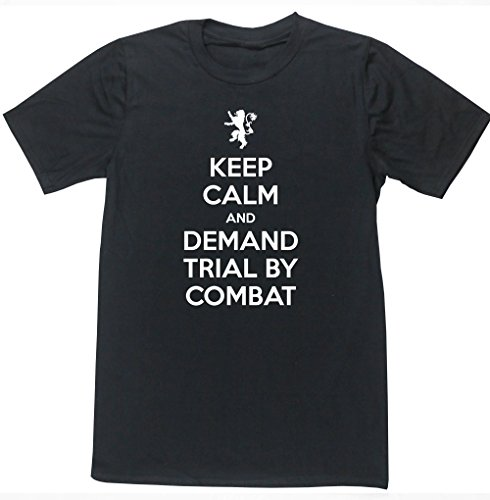 hippowarehouse-keep-calm-and-demand-trial-by-combat-unisex-short-sleeve-t-shirt